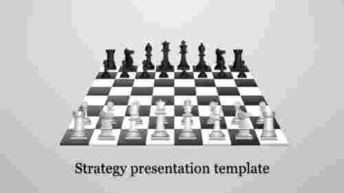 A one noded Strategy presentation template